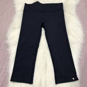 Brooks blue Capri leggings pockets